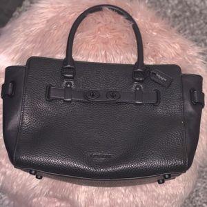Black Pebbled Leather COACH Crossbody Bag